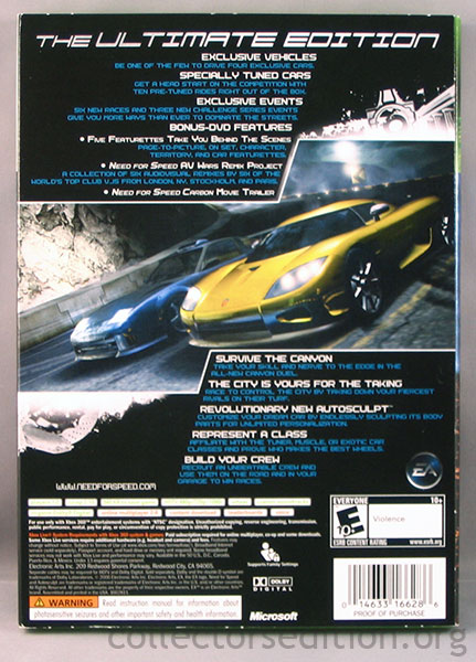 CollectorsEdition org » Need for Speed Carbon Collector's