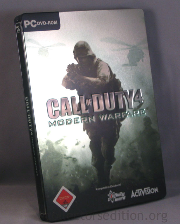 Call of Duty 4 Modern Warfare German PC DVD-ROM SteelBook.