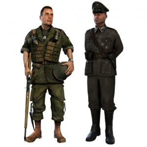 German Commander and American Assault models