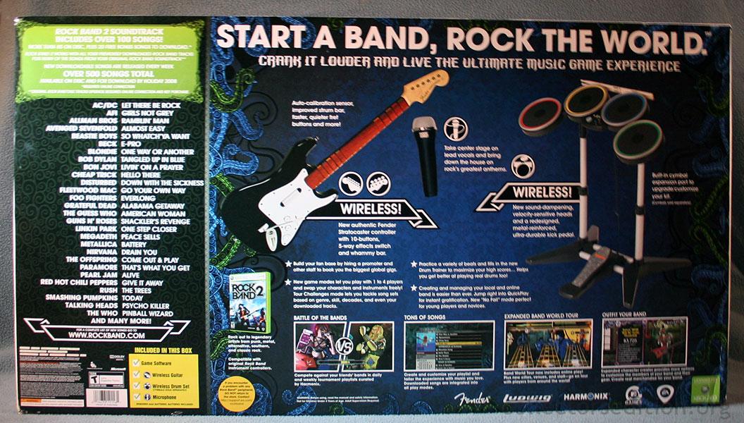 Rock band 2 microsoft xbox 360 video games | ebay.