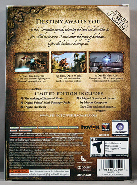 Prince Of Persia Special Edition Game