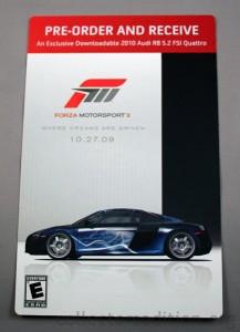 Forza Motorsport 3 Pre-Order Bonus