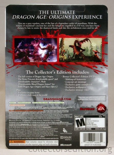 Collectorsedition dragon age origins collectors edition 360 dragon age origins collectors edition xbox 360 ntsc gumiabroncs Image collections