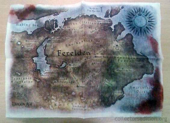 Dragon Age Origins Map on