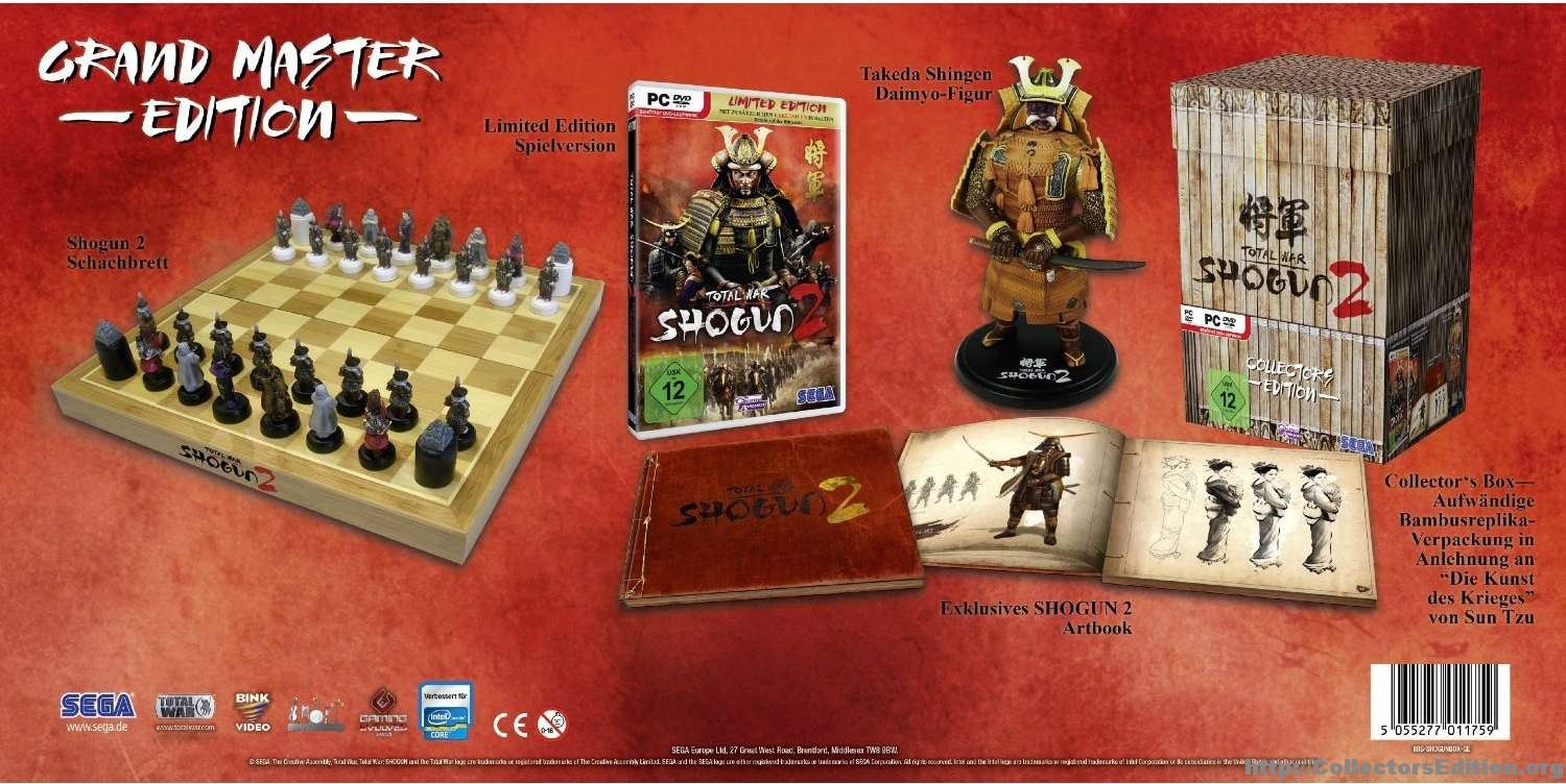 Closed: win collector's edition of total war:shogun 2 – military.