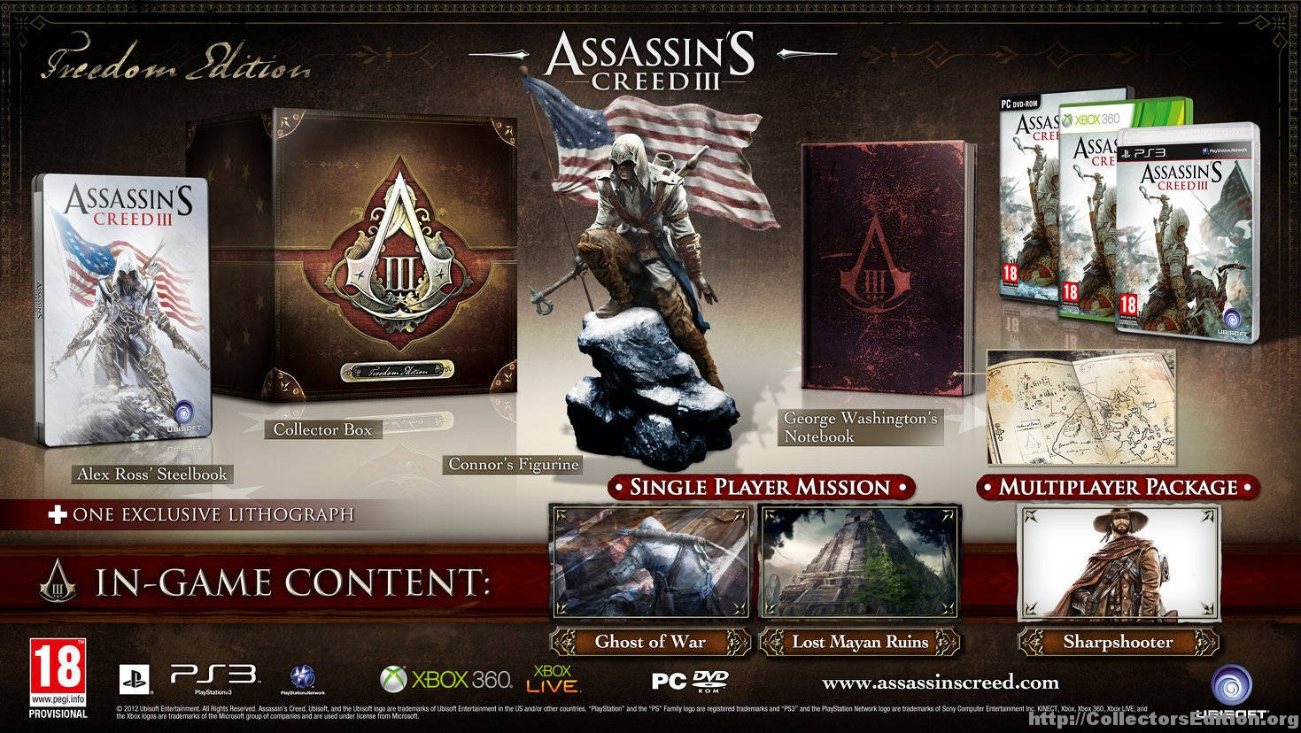 Collectorsedition. Org » assassin's creed iii freedom edition (ps3) [2].