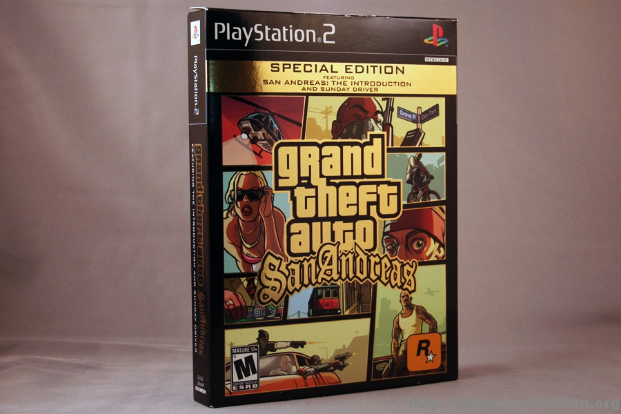 Grand theft auto san andreas special edition ps2 ntsc rockstar