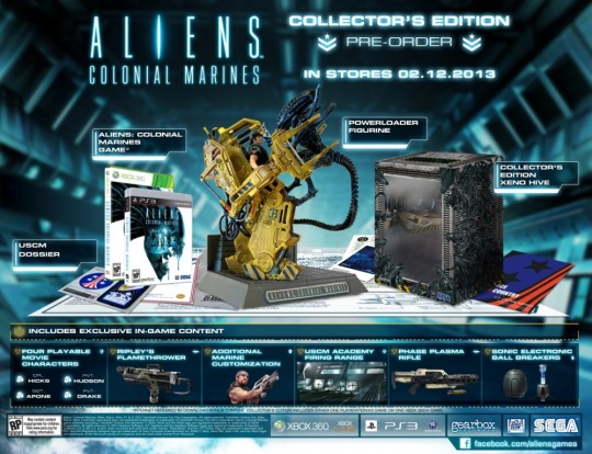 Aliens Colonial Marines Collector's Edition (360/PS3) [NTSC/PAL] (Sega/Gearbox)