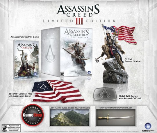 Assassin's Creed III GameStop Exclusive Limited Edition (Xbox 360) [NTSC] (PS3) [1] (Ubisoft)