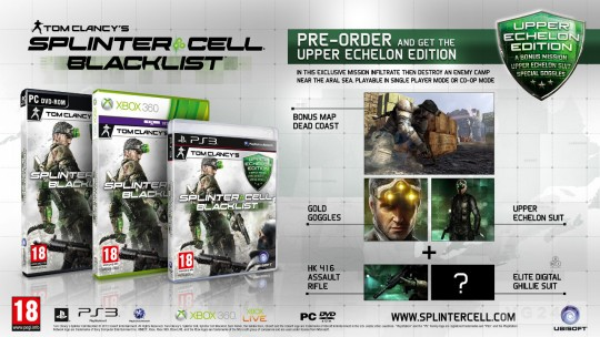 Splinter Cell: Blacklist Upper Echelon Day 1 Edition