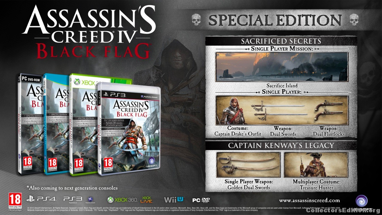 Collectorsedition ps3 assassins creed 4 special edition malvernweather Choice Image