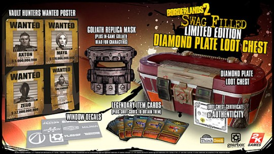 Borderlands 2 Swag Filled Limited Edition Diamond Plate Loot Chest