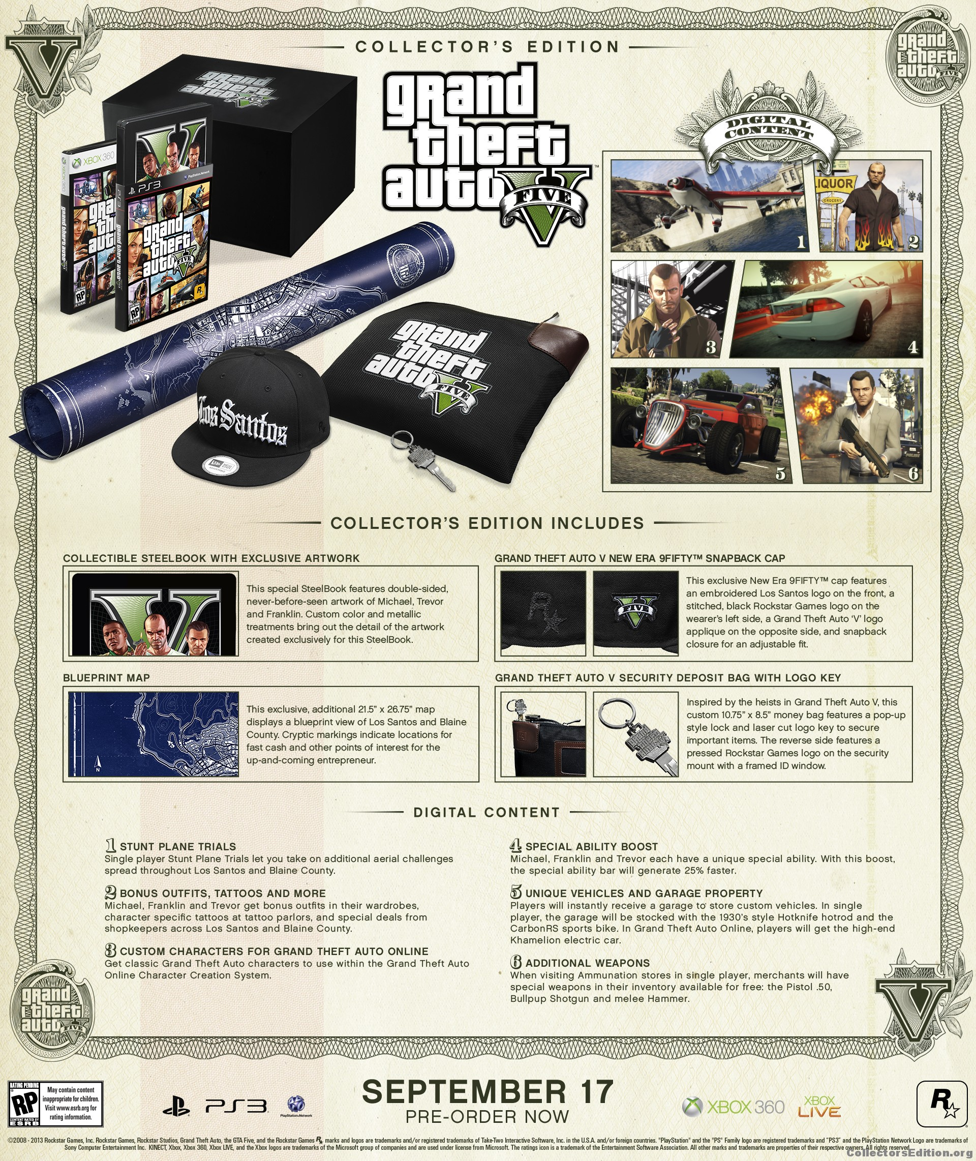 Collectorsedition ps3 grand theft auto 5 ce malvernweather Image collections