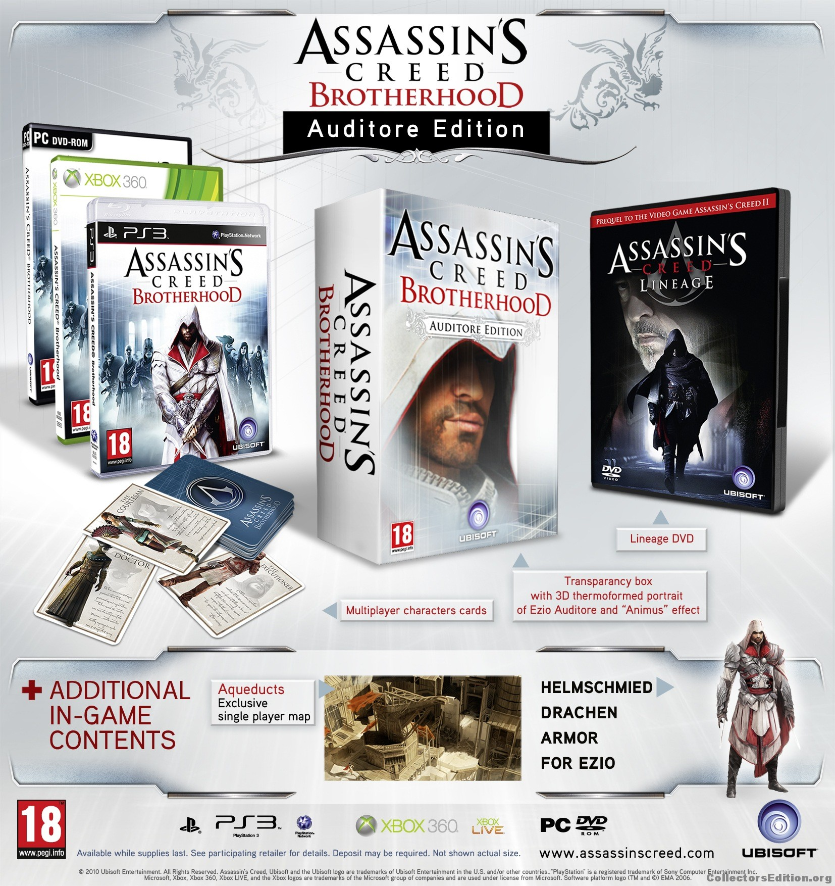 Collectorsedition Org Assassin S Creed Brotherhood Auditore Edition 360 Pal