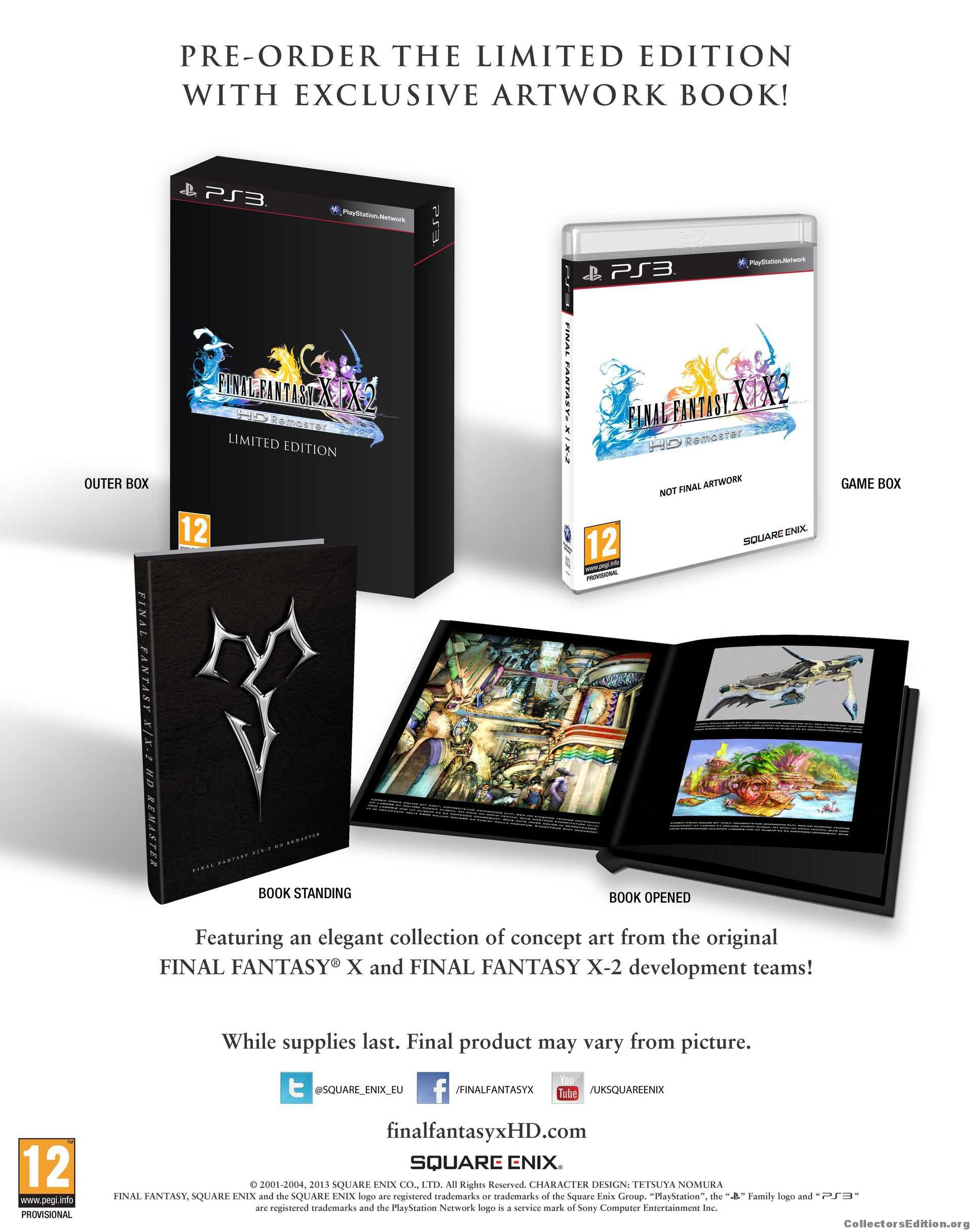 Final fantasy x / x-2 hd remaster limited edition | ps4 | buy now.