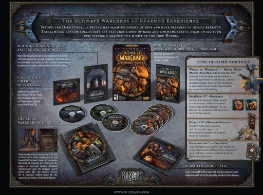 World of Warcraft Warlords of Draenor Collector's Edition