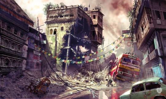 Warzone Street Scene - Uncharted
