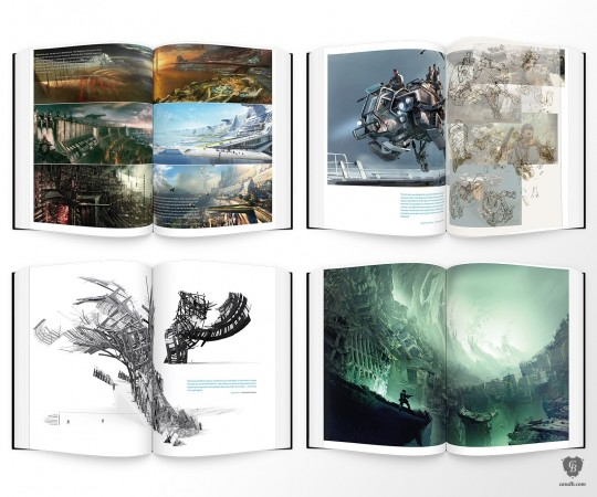 the inside of the Killzone 15 year anniversary art book